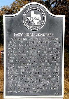 Baby Head Cemetery Marker