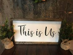 This Is Us Wood Sign Winter Decor Christmas Decor