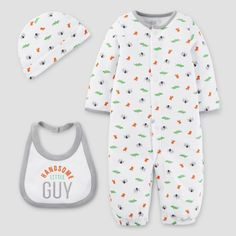 Baby 3 Piece Converter Gown Set Biscotti 6M - Just One You Made by Carter's, Infant, Size: 6 M, White