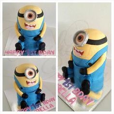 Minion Birthday Cake by Cakes by Kyla, Gosford, New South Wales, Australia. You'll find this Cake Appreciation Society Member in our Directory at www.cakeappreciationsociety.com