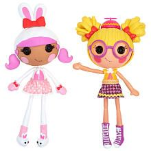 She doesn't have any from the Lalaloopsy Workshop collection --- Double Pack - Bunny/Nerd