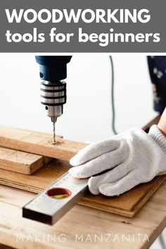 Are you new to woodworking and don't know where to start? There are so many tools on the market and that can be super confusing! Learn how these 8 essential beginner woodworking tools here! #tools #beginners #woodworking #woodprojects Woodworking Tools For Beginners, Essential Woodworking Tools, Easy Woodworking Projects, Wood Working For Beginners, Diy Projects Using Wood, Basic Nails, Faux Shiplap, Manzanita, Home Improvement Projects