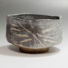 NEZUMI SHINO CHAWAN - Modern Gray Japanese Crackle Glaze Pottery Tea Bowl #2114 - ChanoYu online shop