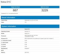 Nokia D1C zeigt sich im GeekBench