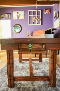 Dining Room Table with Secret Compartment for door TheSecretTable