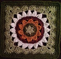 Sweet and Fair Afghan Square by Julie Yeager