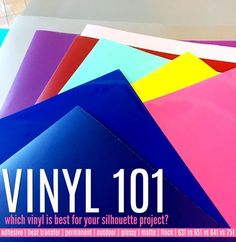 What Vinyl to Use for Silhouette CAMEO Projects: Beginners Listen Up!