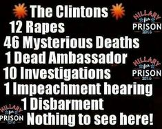 Why would anyone especially a woman vote for Hillary. Are they in such a hurry to have a woman POTUS they will settle for this? Her actions toward Bill's victims were enough to stop me years ago from wanting Hillary. M.W. 8/12/16