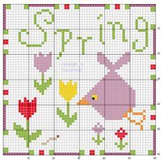 all 4 seasons free cross stitch charts