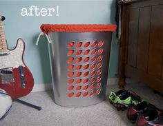 Plastic Hamper Makeover: From Cheap to Chic