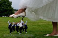 #bride stomp #fun wedding photo idea