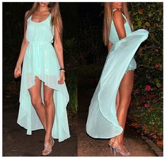 High Low Light Blue dress