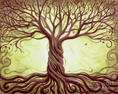 Picturing my tattoo... each woven branch in the trunk would represent each of the children, Mike, and myself; making 6 branches.