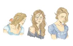 Elain, Feyre, Nesta<<<<these drawings are adapted from Cassandra Jean