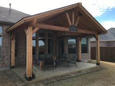 Fresh back porch roof extension on this favorite site