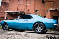 Can you believe that this gorgeous Marina Blue pro-touring Camaro sat unloved in a barn for almost 30 years? Joe Garofalo\'s '67 Camaro is powered by a 6.2L LS3 and rides on Viking Performance coilovers, Detroit Speed minitubs, BFGoodrich Rival S tires (275/35ZR18 & 315/30ZR18), and 18x9.5/18x11.5 Forgeline CF3C Concave wheels finished with Satin Gunmetal centers and Gloss Black outers! See more at: http://www.forgeline.com/customer_gallery_view.php?cvk=1749