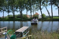 The canal between the histroric city of #Bruges and the dutch border city #Sluis. A great idea to cycle along the canal from one city to another.   http://www.hotelnavarra.com/en/info/223/Around-Bruges.html