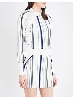 3.1 PHILLIP LIM Stripe-print knitted jumper