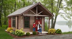 Rustic Garden Sheds With Porches | With it's porch and higher pitch roof, the rustic Highland is a roomy ...