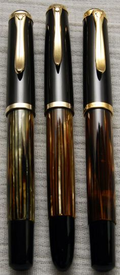 Pelikans: 400 Brown Tortoise, 400NN Brown Tortoise, and M400 Brown Tortoise