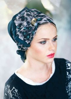 Turquoise Chiffon Belle Head Covering