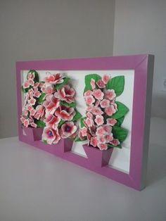 Resultado de imagem para quadros com flores eva