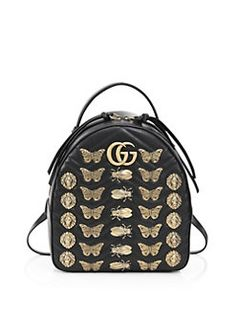 Gucci - Metal Mixx GG Marmont Leather Backpack Gucci Marmont 44abc4f2361f5