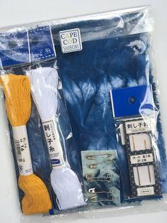 Visible Mending Craft Kit, Shibori Denim Repair Kit, DIY Kits, Sashiko Repair Kit by CapeCodShibori on Etsy Shibori Fabric, Denim Fabric, Fabric Scraps, Craft Kits, Diy Kits, Visible Mending, Fabric Markers, Gifts For Teens, Accent Colors