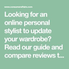 Looking for an online personal stylist to update your wardrobe? Read our guide and compare reviews to find the best clothing subscription box. Clothing Subscription Boxes, Consumer Reports, Personal Stylist, Cool Outfits, Stylists, Reading, Toe, Clothes, Nice Outfits