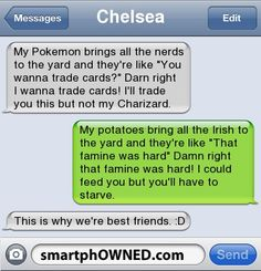 """My Pokemon brings all the nerds to the yard and they're like """"You wanna trade cards?"""" Darn right I wanna"""