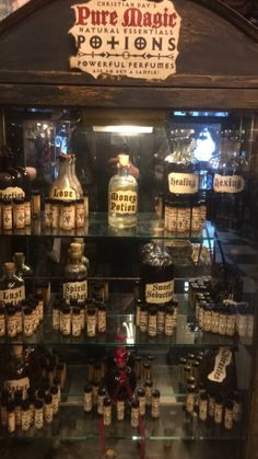 Magic potions at Hex Old World Witchery in Salem, Massachusetts
