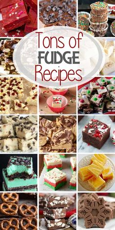 The Best Fudge Recipes! Easy Fudge Recipes Perfect for the Holidays. Everything from Eggnog, Peanut Butter, Gingerbread, Chocolate and More! via @julieseats