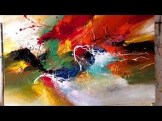 FOR YOU MY LOVE, painting by Dan Bunea, living abstract paintings, www.danbunea.ro - YouTube