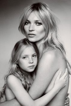 Kate Moss and Lila Grace, by Mario Testino