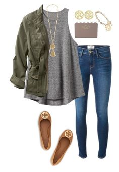 """New icon (credit is in my bio)"" by pretty-girl-prep ❤ liked on Polyvore featuring Frame Denim, RVCA, Isabel Marant, L.L.Bean, Kate Spade, Alison & Ivy and Tory Burch"