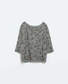 ZARA - WOMAN - EMBROIDERED SWEATER