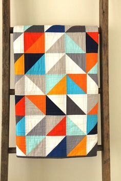 "Mmmmm...these colors are delicious! ""Pantone Parade"" quilt by Erica from Crafty Blossom."