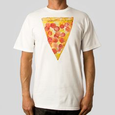 Extra Pepperoni #Pizza T-Shirt by #DavidChoe