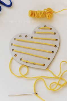 Rust & Sunshine: Lacing Heart Valentines