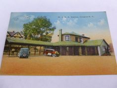 W S R R Station Congres NY Vintage Postcard 1930