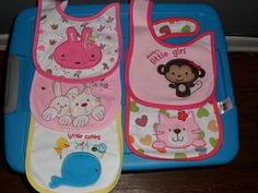 5pc Carter's Baby Bibs Infant Embroidered Saliva, Burp Towels Carter's Girls   #Carters