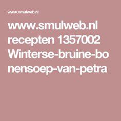 www.smulweb.nl recepten 1357002 Winterse-bruine-bonensoep-van-petra