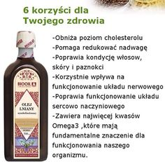 Olej lniany Health Advice, Superfoods, New Recipes, Diy And Crafts, Health Fitness, Food And Drink, Nutrition, Drinks, Healthy