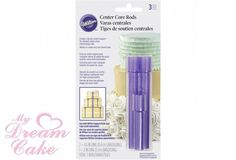 CENTRE CORE RODS FOR STACKING CAKES- WILTON PACK OF 3 AVAILABLE AT WWW.MYDREAMCAKE.COM.AU