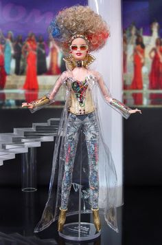 MISS FINLAND 2015/16 Fashion Dolls, Fashion Art, Miss Pageant, Leather Gauntlet, Barbie Miss, Broken Doll, Couture Shoes, Bride Dolls, Beautiful Barbie Dolls
