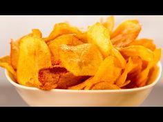 Házi chips - ropogós, ízletes és sokkal egészségesebb. | Ízletes TV - YouTube Patatas Chips, Healthy Snacks, Snack Recipes, Gifts, Appetizers, Garlic, Herbs, Health