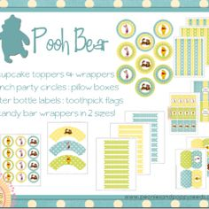 Winnie the Pooh Party printables
