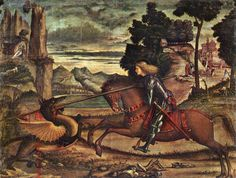 Vittore Carpaccio: St George and the Dragon [detail: 1] from artrenewal.com