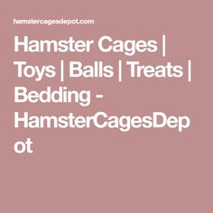 Hamster Cages | Toys | Balls | Treats | Bedding - HamsterCagesDepot