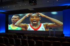 A rather large Mo on our Ultra-wide screen. www.istead.co.uk #events #conference #agm #dinner #gala #galadinner #theme #eventservices #eventprofessionals #AV #audiovisual #multimedia #design #eventproduction Gala Dinner, Event Services, Multimedia, Event Planning, Conference, Presentation, Events, Design